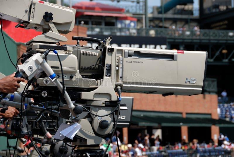 Details van televisiecamera stock foto's