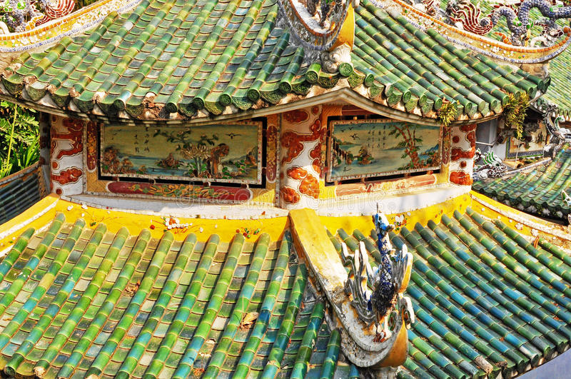 Details of vietnamese ancient house. Details of an vietnamese ancient house royalty free stock photography