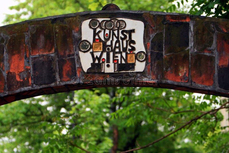 Details von Hundertwasserhaus Wien lizenzfreies stockfoto