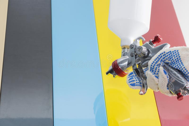 Details von M?beln, malende Teile mit mehrfarbiger Farbe lizenzfreies stockbild