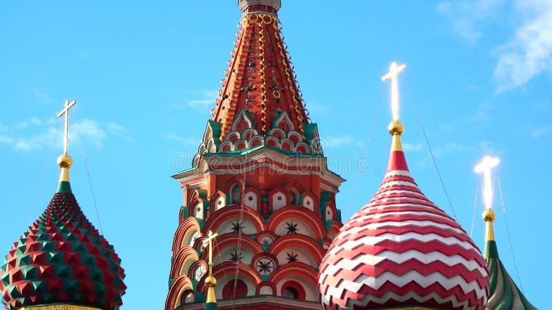 Details von St. Basil Cathedral auf dem roten Quadrat in Moskau, Russland stockfotos