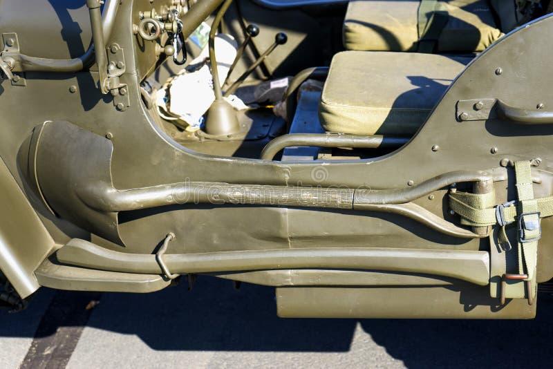 Details von WWII-Jeep - Werkzeuge lizenzfreies stockfoto