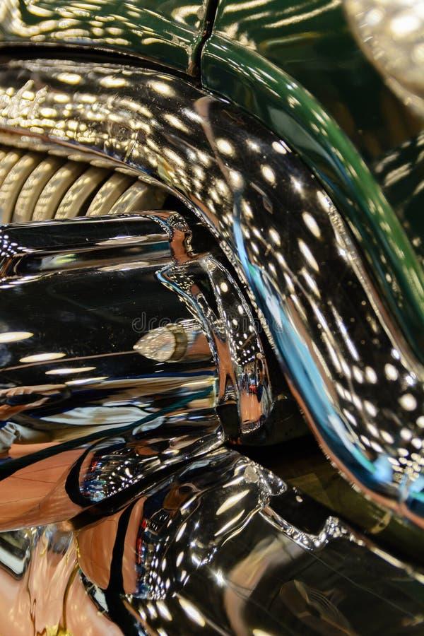 Detailsclose-up van een oude auto royalty-vrije stock afbeeldingen