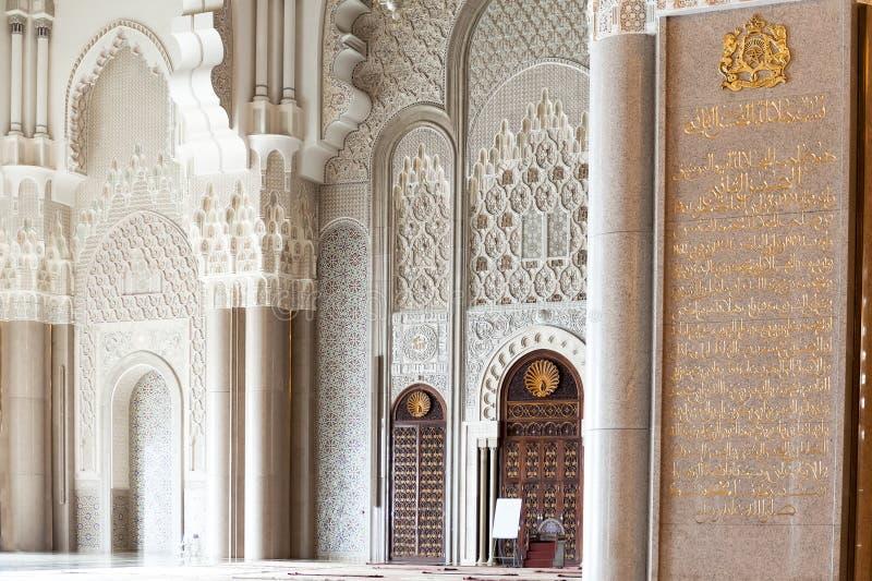 Detailskoning Hassan II Moskee, Casablanca royalty-vrije stock afbeelding
