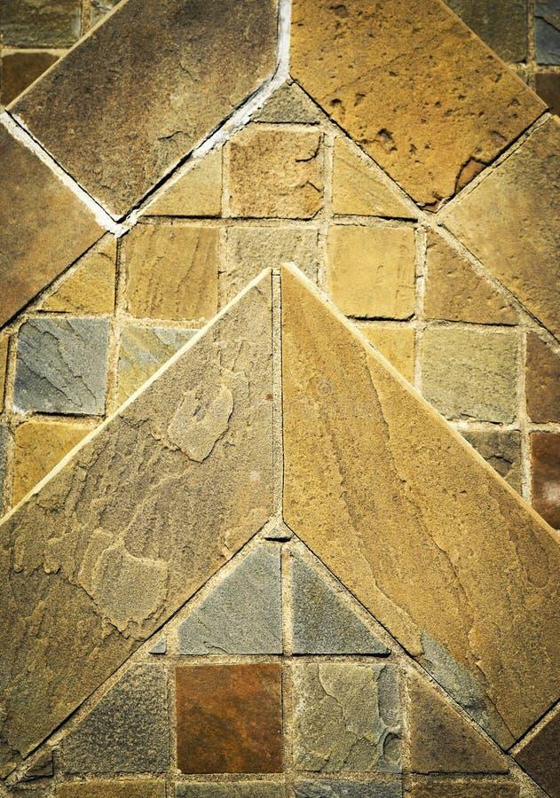 Detailsteinpflasterung gemacht vom Sandstein stockfotos