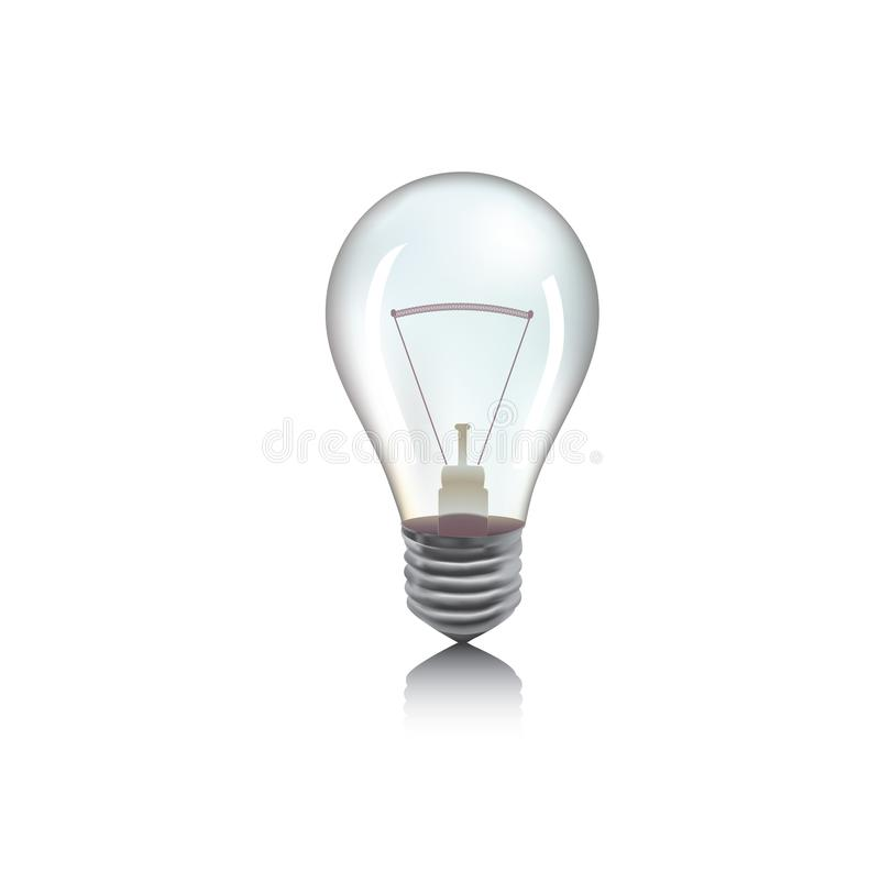 Detailvektorillustration der Glühlampe oder der Birne lizenzfreie stockfotografie