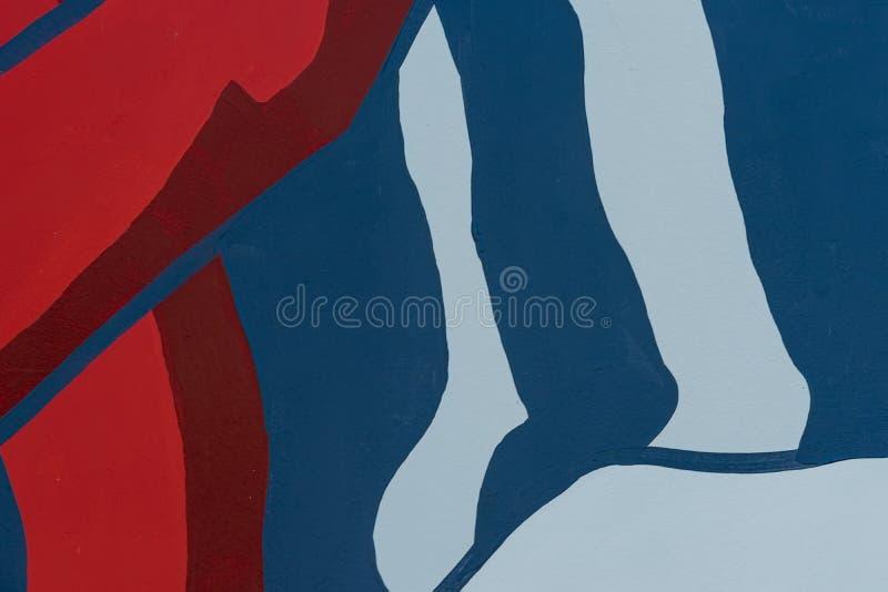 Detal brillante de la pared se adorna con el primer abstracto de la pintura Fragmento para el fondo Cultura urbana moderna imagen de archivo libre de regalías