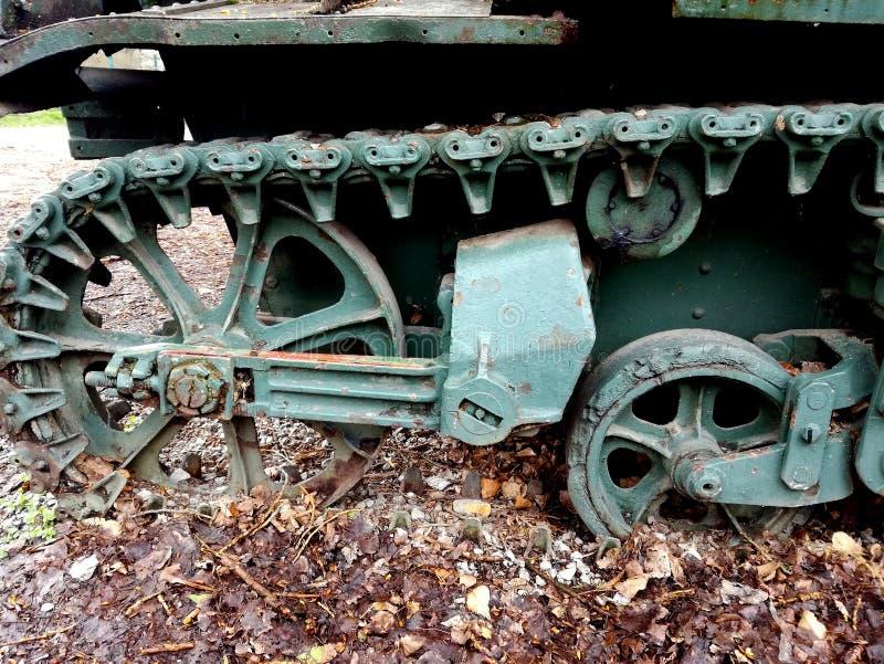 Detal del carro armato leggero II dalla guerra mondiale fotografia stock