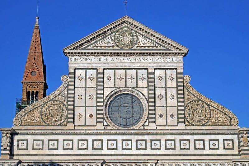 Detal od fasady kościoła Santa Maria Novella we Florencji obraz royalty free