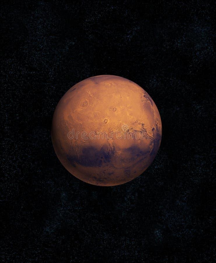 Detalhe alto do planeta de Marte ilustração stock