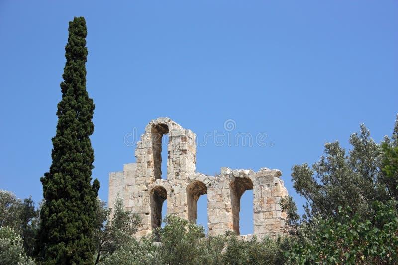 Detalhe antigo de Atenas imagem de stock