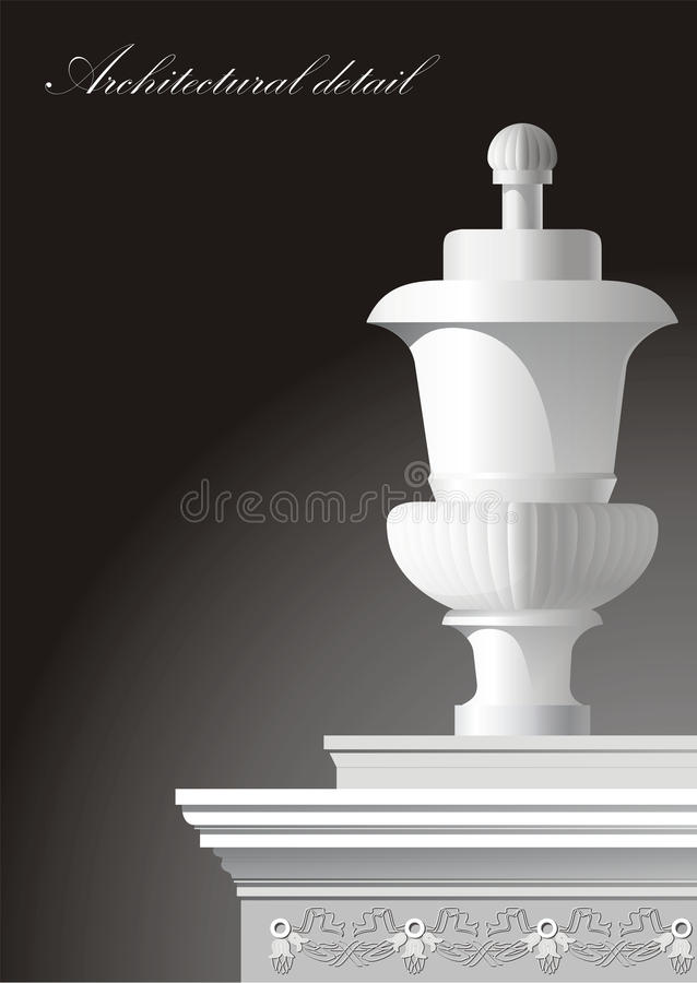 Detalhe arquitectónico ilustração do vetor