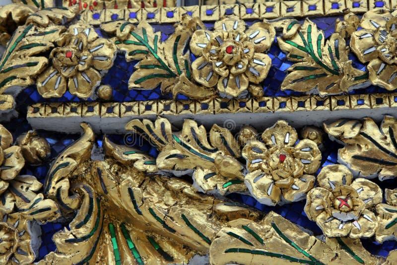 Detalhe arquitetónico de Banguecoque do palácio grande imagem de stock
