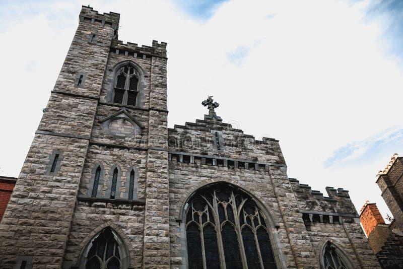 Detalhe arquitetónico de St Michan s Roman Catholic Church em Dublin imagem de stock royalty free