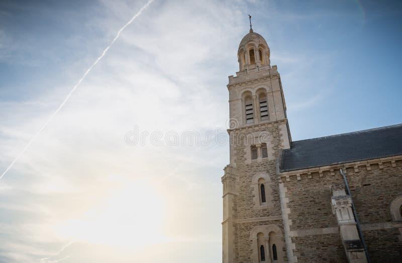 Detalhe arquitetónico do exterior da igreja de St Croix foto de stock royalty free