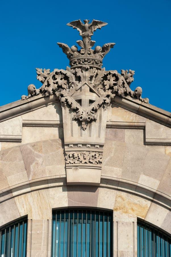 Detalhe arquitetónico em Barcelona, Espanha fotografia de stock