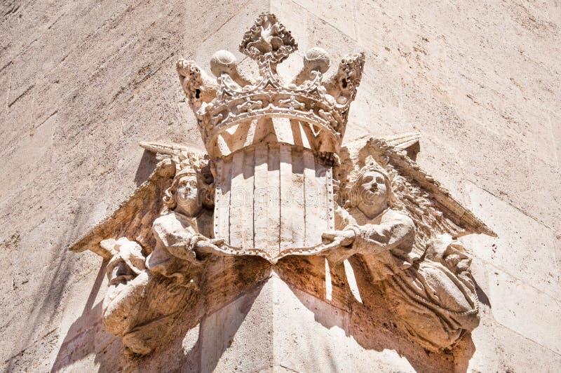 Detalhe arquitetónico em Valência, Espanha fotografia de stock royalty free