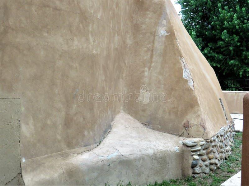 Detalhe, arquitetura do adôbe, Chimayo imagem de stock