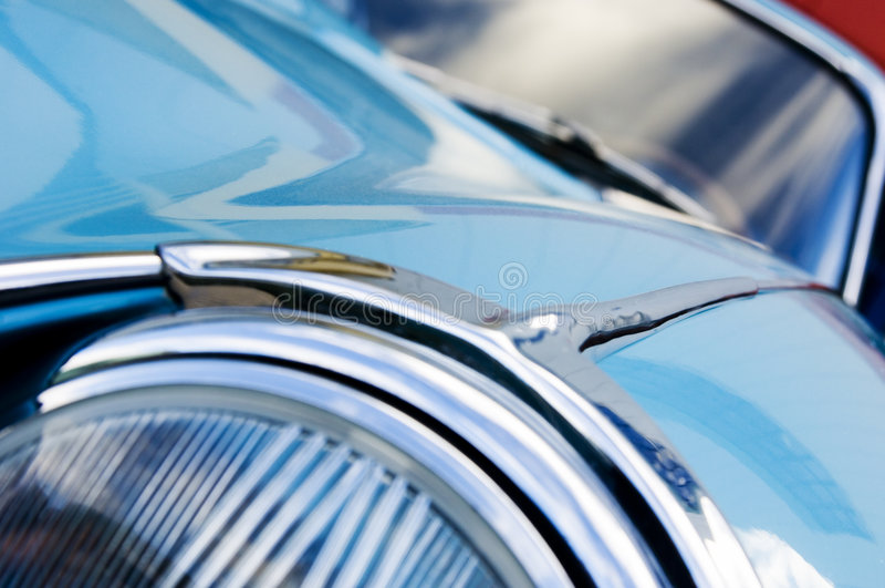 Detalhe britânico do carro do vintage imagem de stock