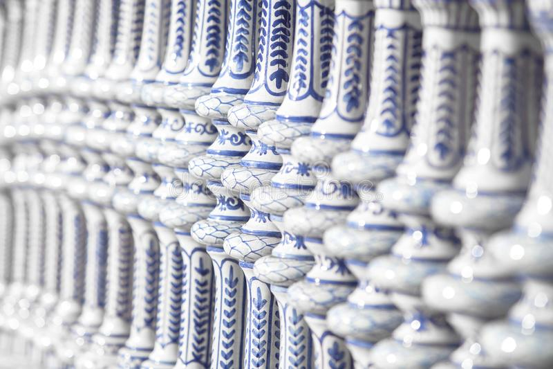 Detalhe cerâmico da decoração de Sevilha foto de stock