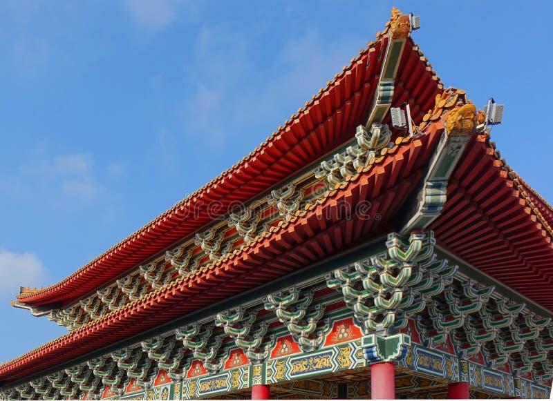 Detalhe chinês do templo fotografia de stock royalty free