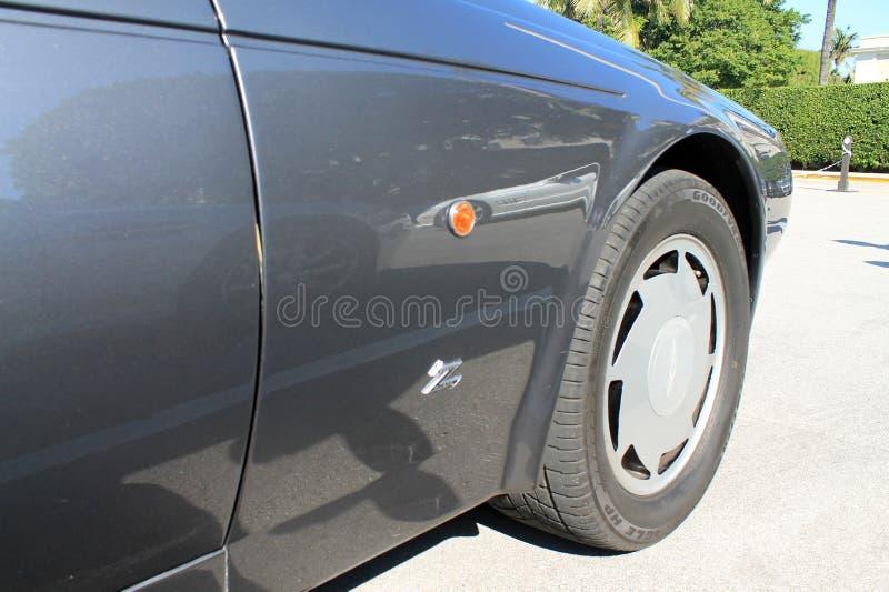 Detalhe clássico do lado do carro de esportes de 80s Asti Martin fotos de stock