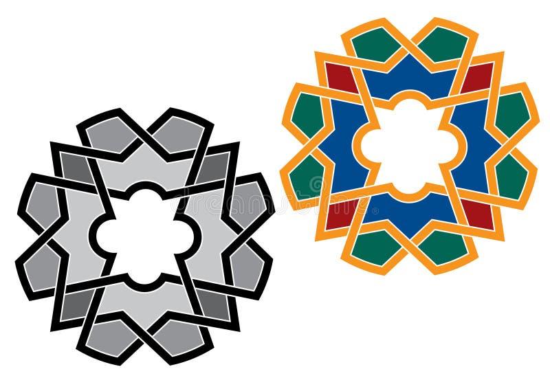 Detalhe colorido decorativo islâmico do projeto da textura decorativa árabe do arabesque de ilustração do mosaico geométrico ilustração do vetor