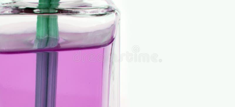 Detalhe cor-de-rosa da garrafa foto de stock royalty free