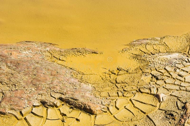 Detalhe da água contaminada foto de stock