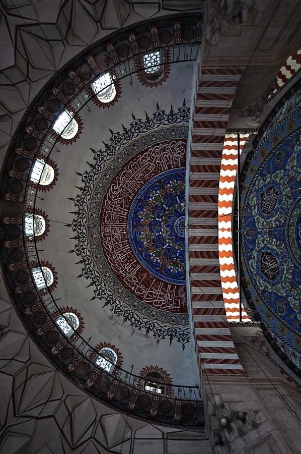Detalhe da abóbada de mesquita de Selimiye imagem de stock