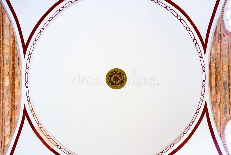 Detalhe da abóbada de mesquita de Selimiye do interior, Edirne, Turquia fotografia de stock royalty free