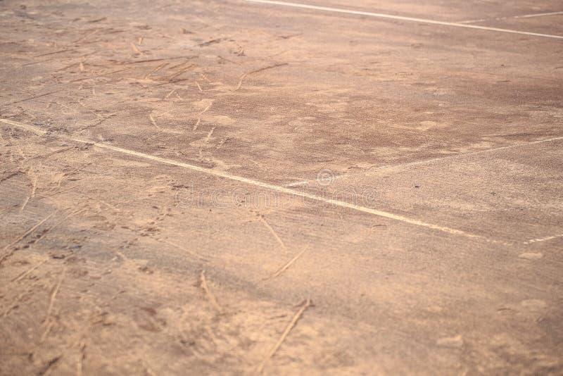 Detalhe da areia do campo de tênis fotos de stock