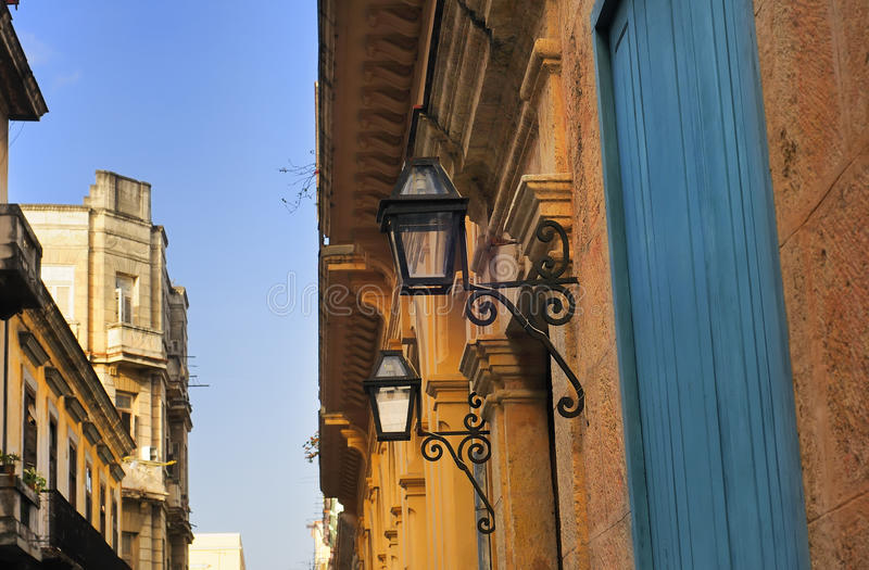 Detalhe da arquitetura de Havana imagem de stock