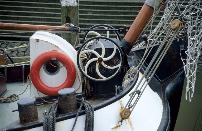 Detalhe da barca imagens de stock