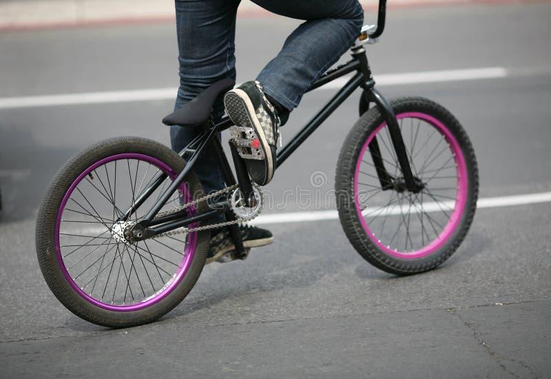 Detalhe da bicicleta de BMX imagens de stock