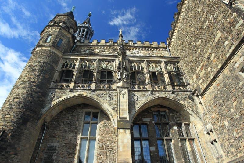 Detalhe da câmara municipal em Aix-la-Chapelle fotos de stock royalty free