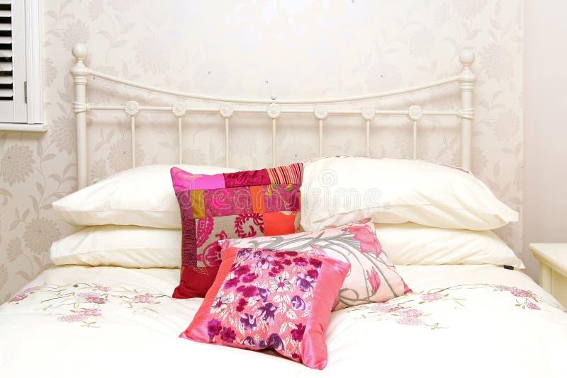 Detalhe da cama de Retrp imagem de stock