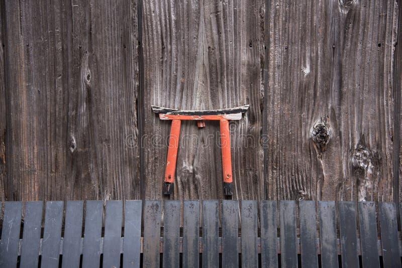 Detalhe da casa japonesa de madeira em Gion imagem de stock