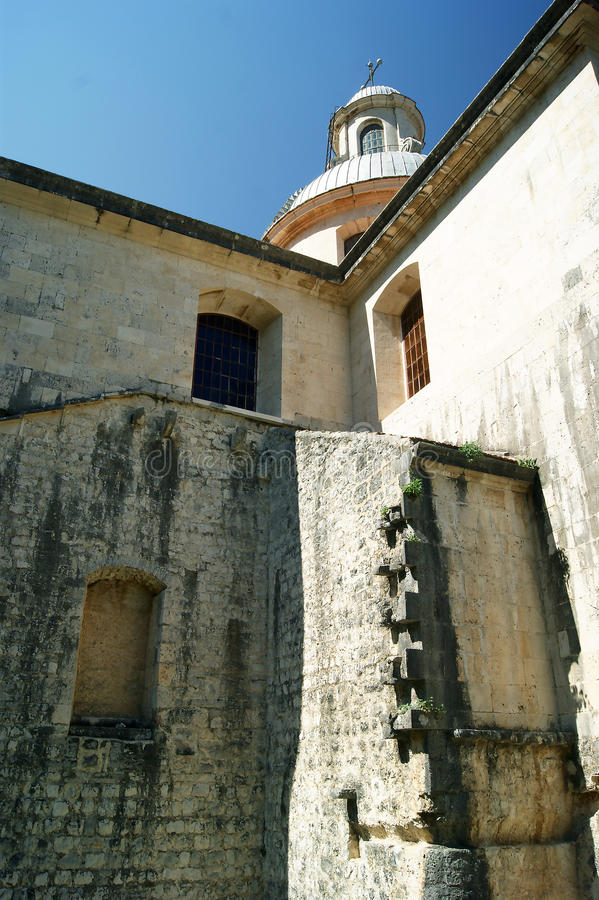 Detalhe da catedral da natividade de nossa senhora, fotografia de stock