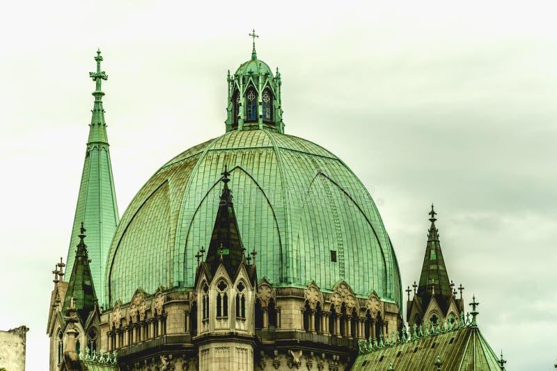 Detalhe da catedral metropolitana, em Sao Paulo, Brasil imagens de stock