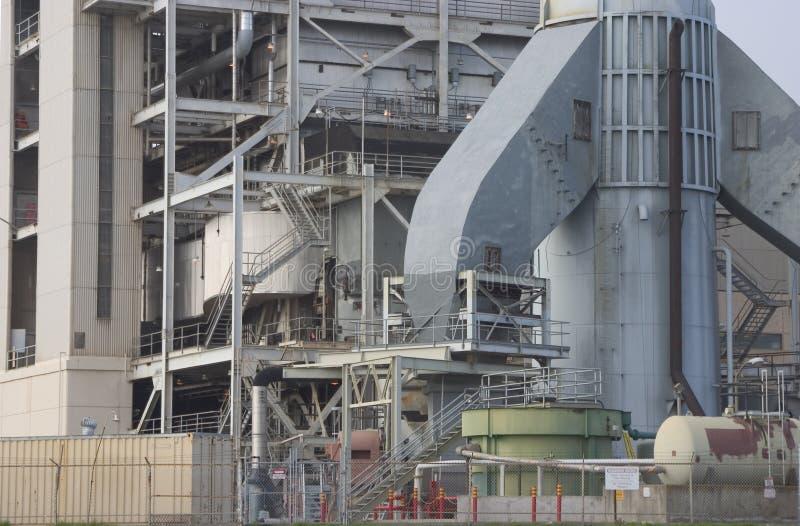 Detalhe Da Central Energética Fotografia de Stock