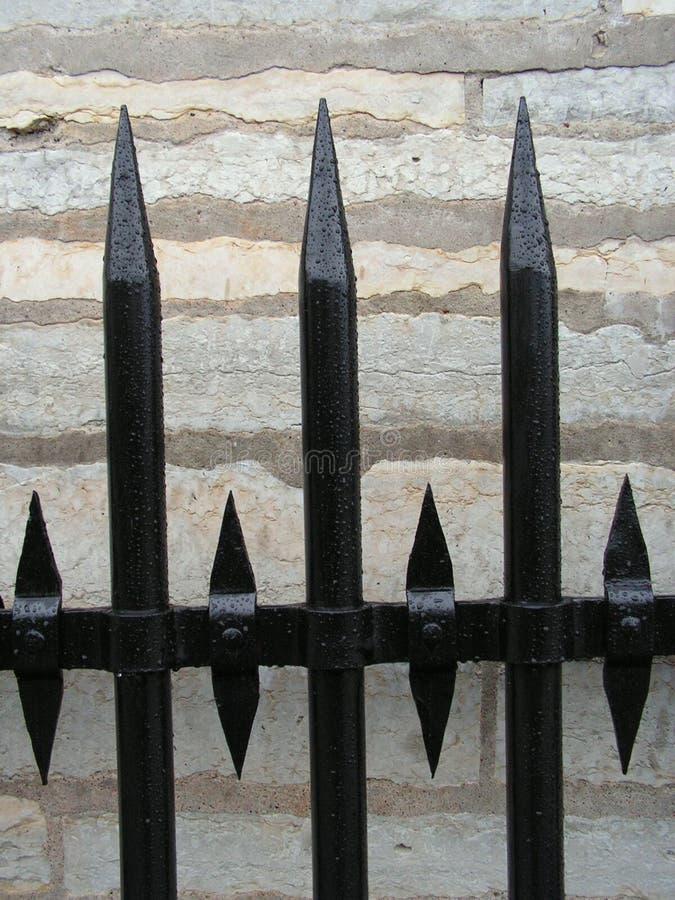 Detalhe da cerca do ferro fotografia de stock royalty free