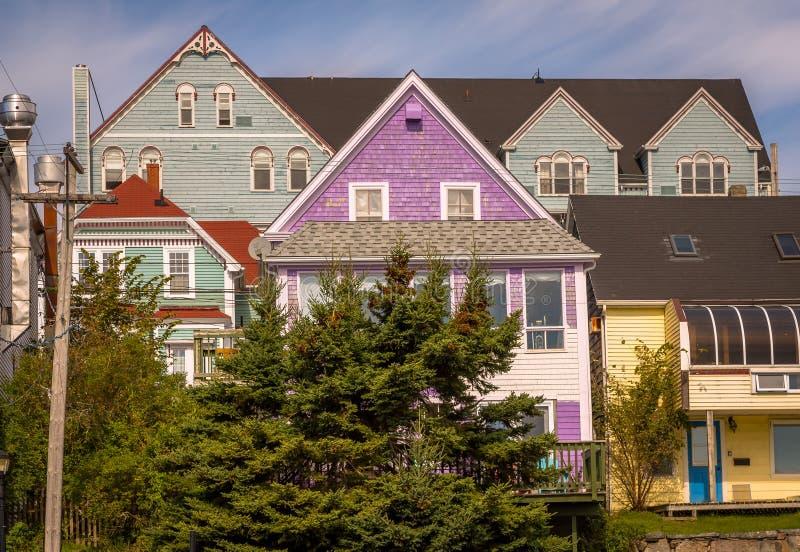 Detalhe da cidade bonita de Lunenburg imagens de stock royalty free