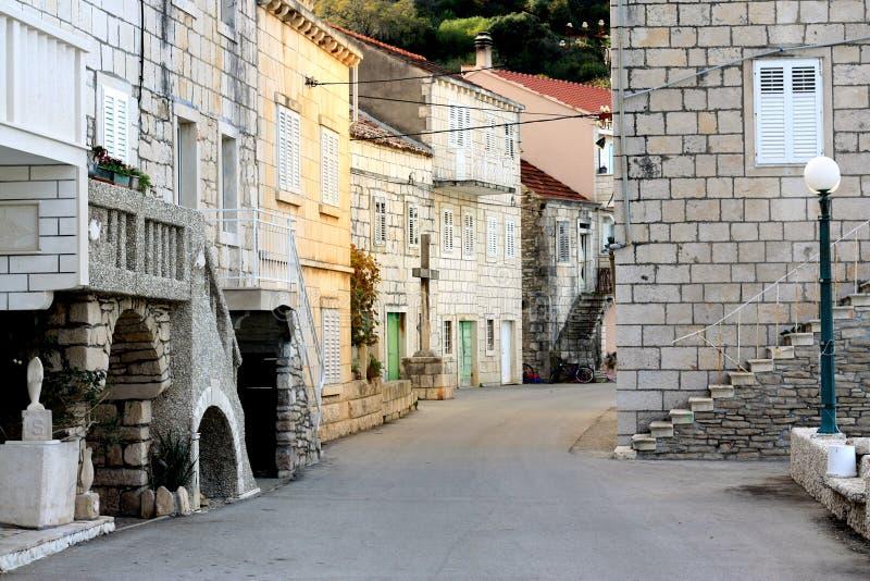 Detalhe da cidade da Croácia de Racisce imagens de stock