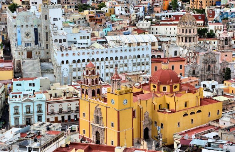 Detalhe da cidade de Guanajuato fotografia de stock
