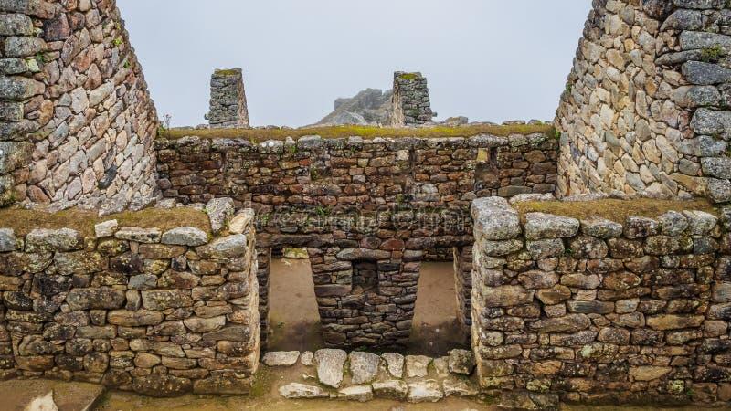 Detalhe da cidade Incan perdida de Machu Picchu perto de Cusco, Peru imagens de stock