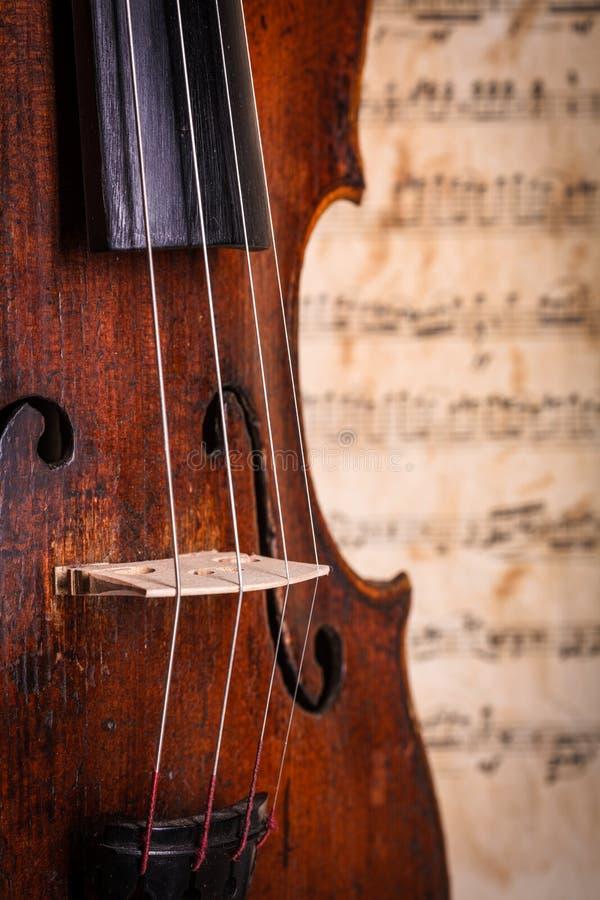 Detalhe da cintura do violino foto de stock