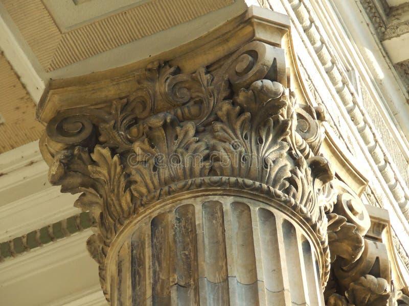 Detalhe da coluna imagens de stock