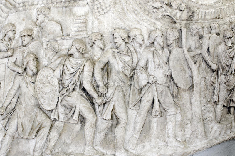 Detalhe da coluna de Trajan foto de stock royalty free
