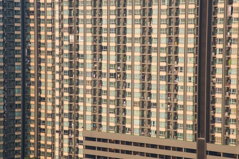 Detalhe da construção do condomínio do apartamento, torre do condomínio foto de stock royalty free